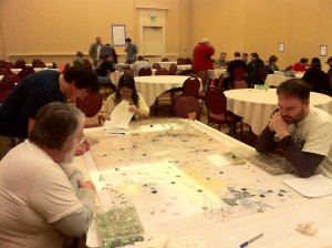 Setting up a game of Tac 5 (using Empire map and pieces)